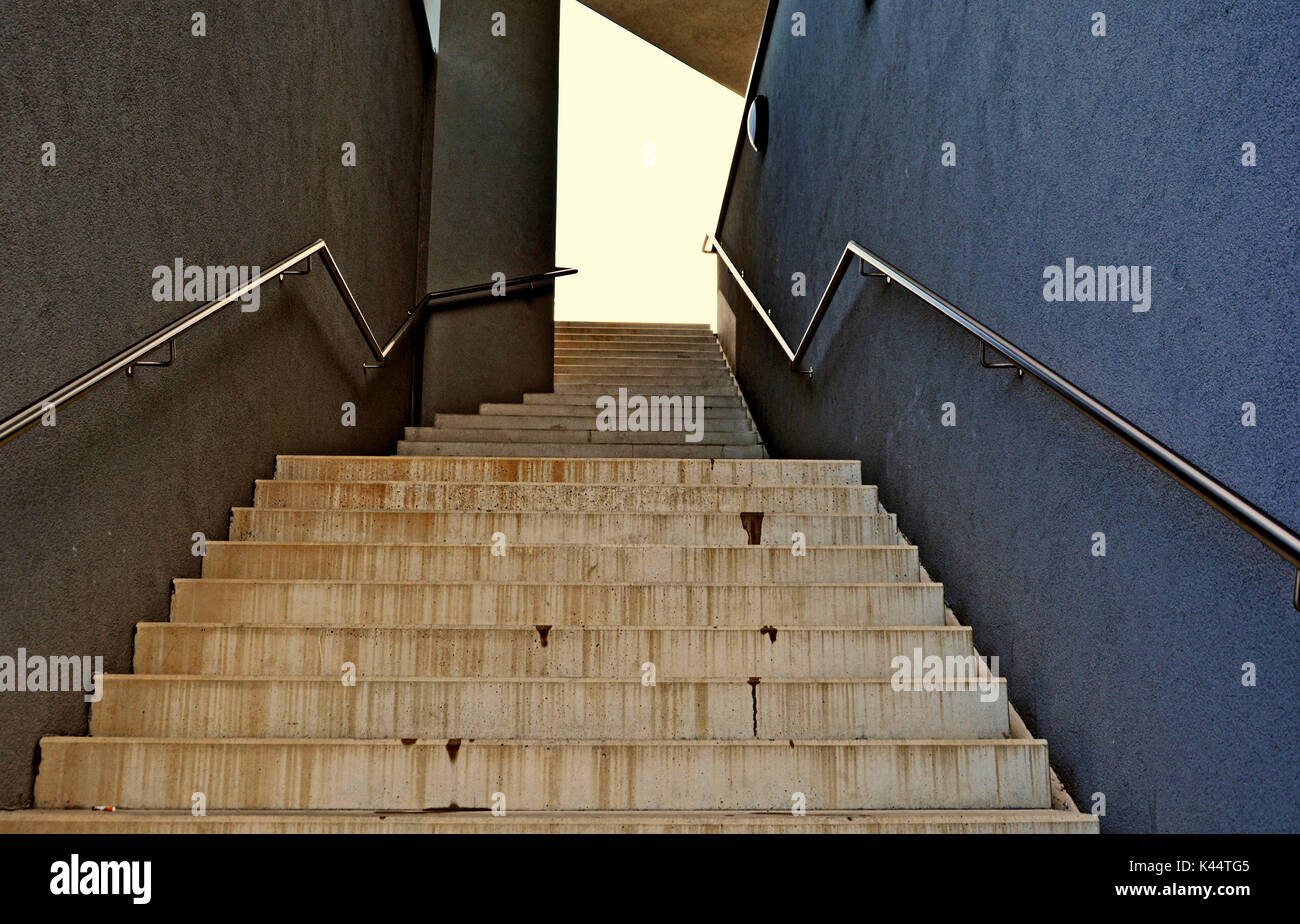 Stairs lonely place - Stock Image