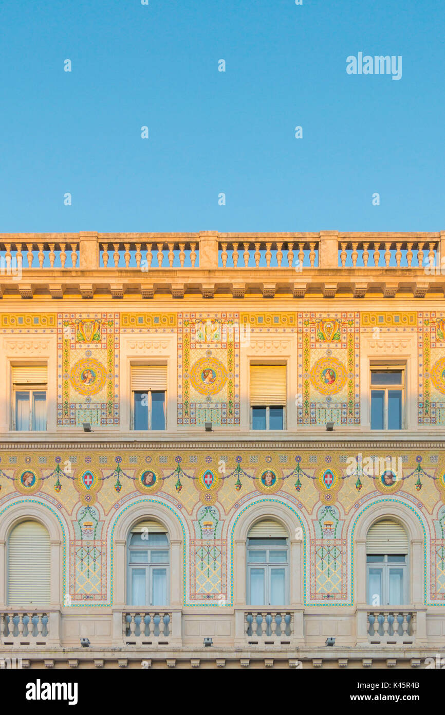 Neoclassic building in Trieste. Trieste city, Trieste Province, Friuli Venezia Giulia district, Italy, Europe - Stock Image