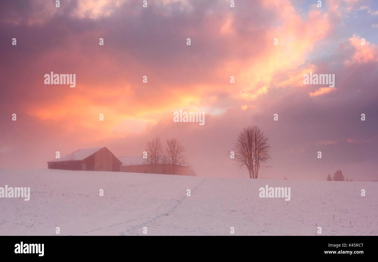 Farmhouse, Asiago, Province of Vicenza, Veneto, Italy - Stock Image