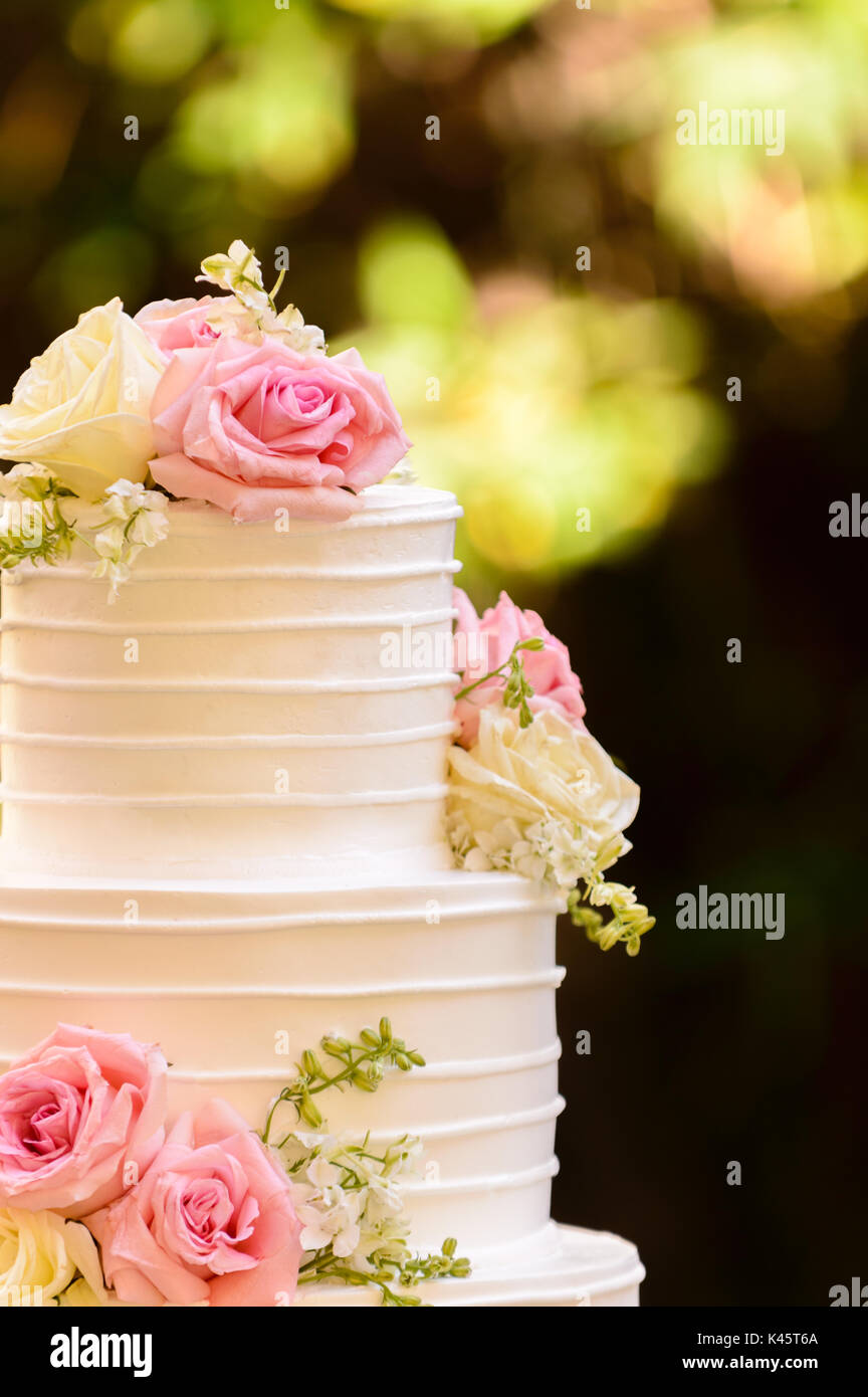 Happy birthday rose flowers cake stock photos happy birthday rose wedding cake stock image izmirmasajfo
