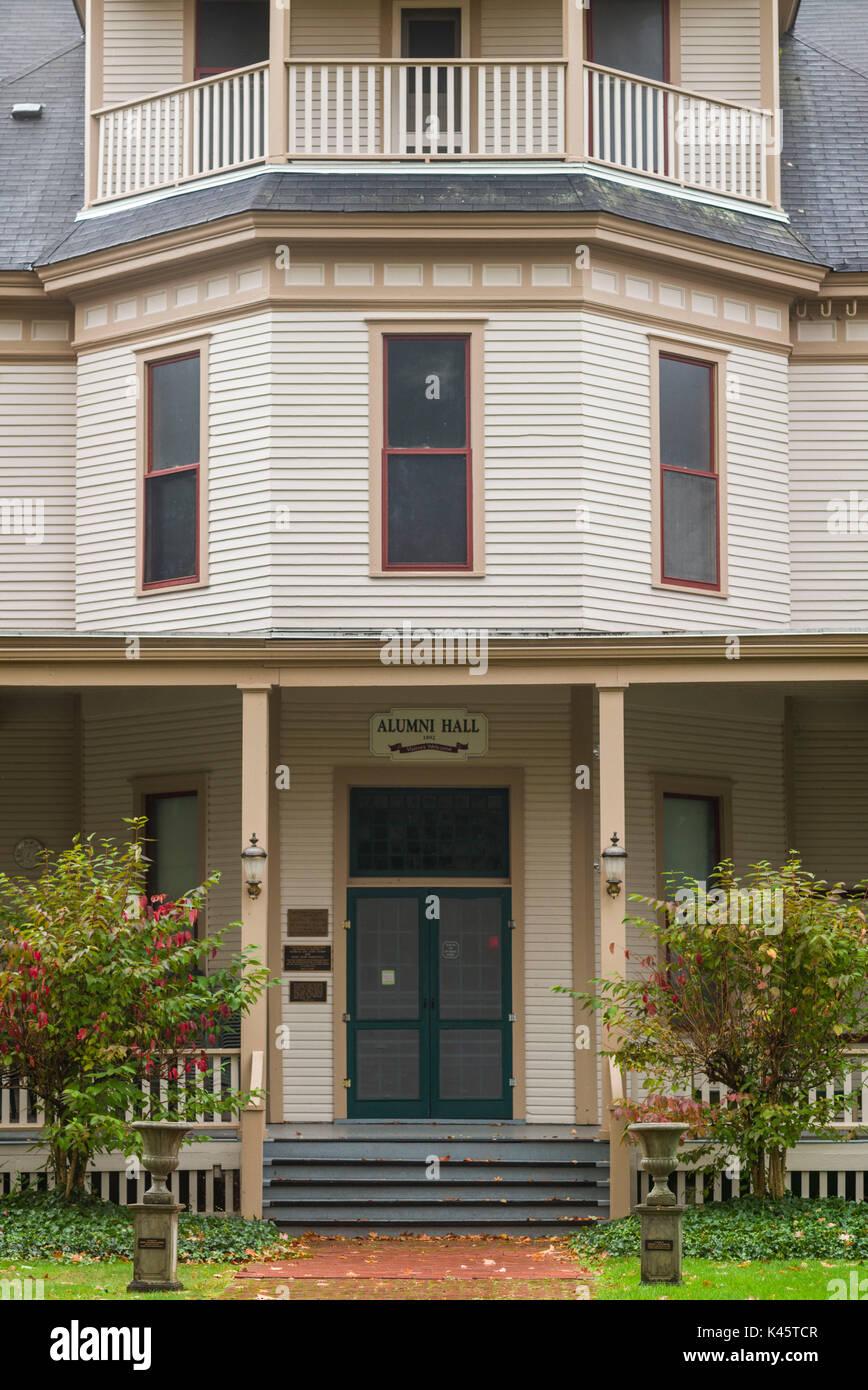 USA, New York, Western New York, Chautauqua, Chautauqua Institution Historic District, Alumni Hall - Stock Image