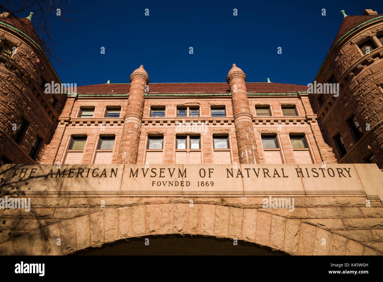 USA, New York, New York City, Upper West Side, Museum of Natural History, exterior - Stock Image