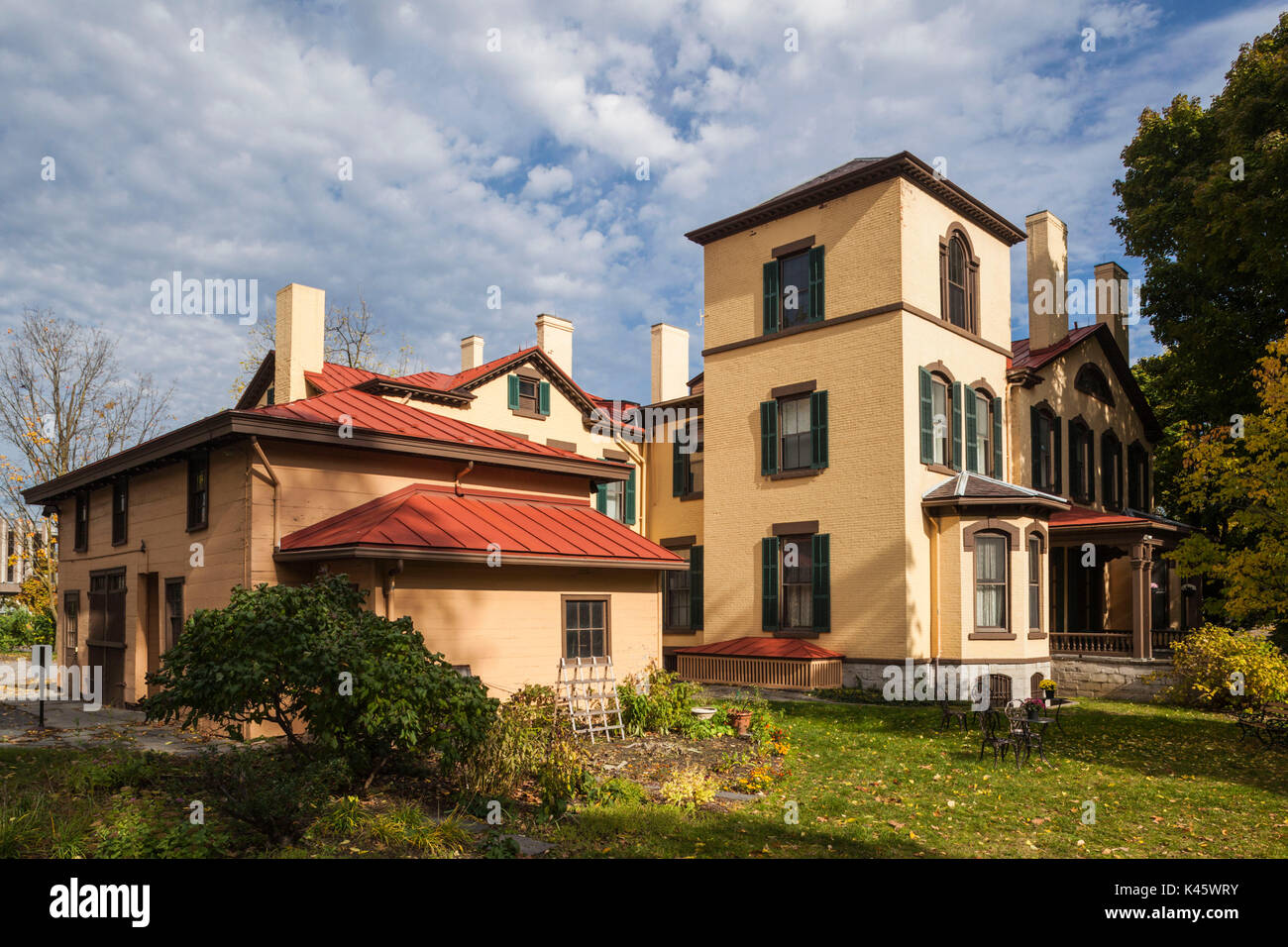 USA, New York, Finger Lakes Region, Auburn, Seward House Museum, former home Secretary of State William Seward who was responsible for acquiring Alaska - Stock Image