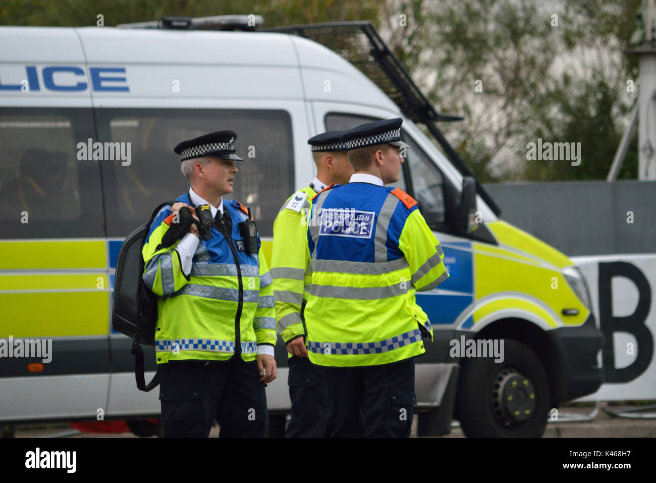 Metropolitan Police on duty in London - Stock Image