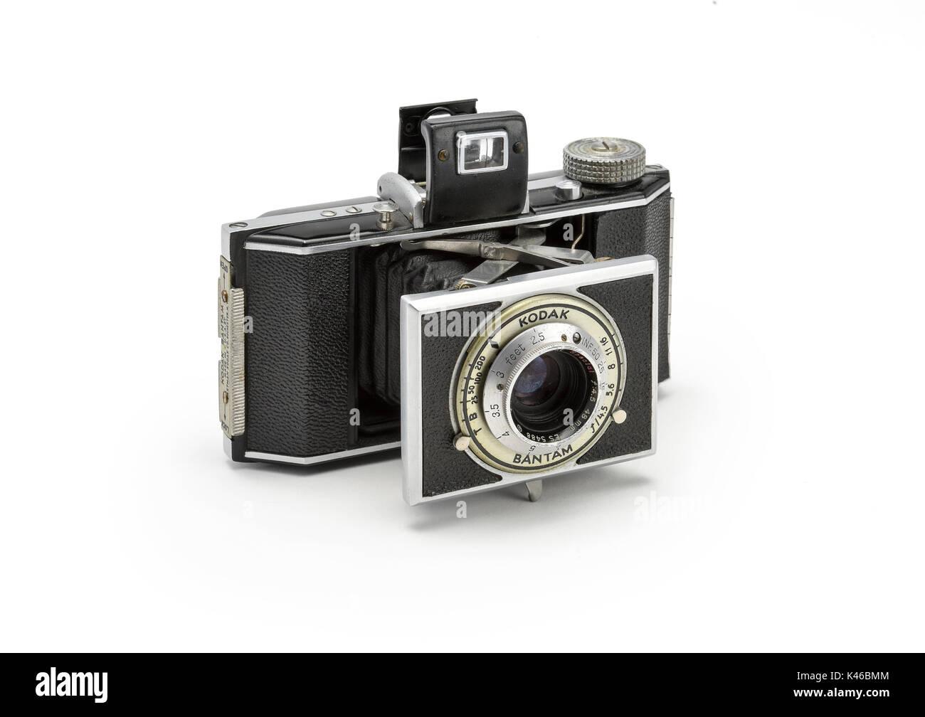 Vintage Kodak Bantam 828 Folding Film Camera from the 1930's - Stock Image
