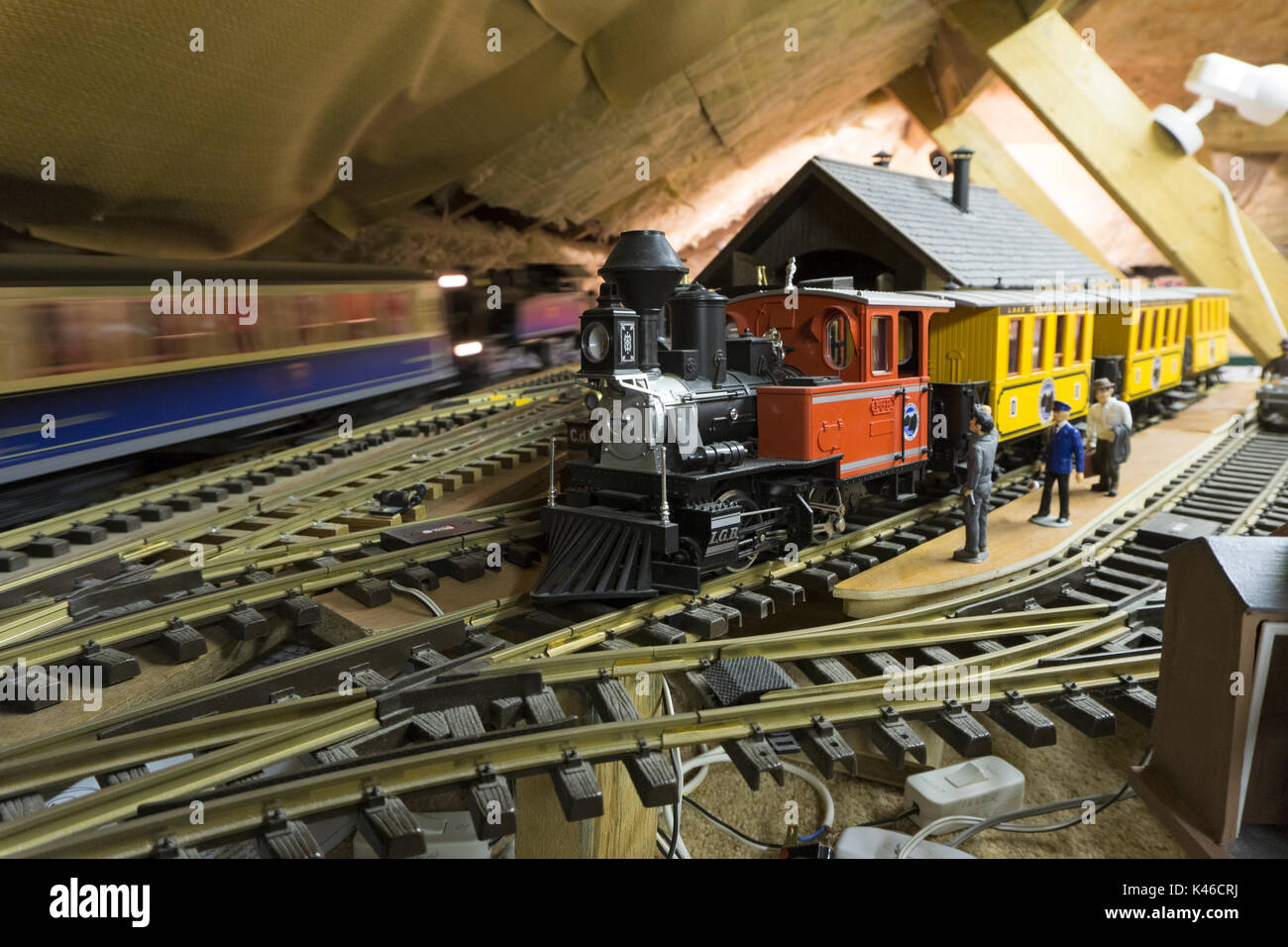 O Gauge Stock Photos Images Alamy Garden Railway Sensors Model In Loft Image