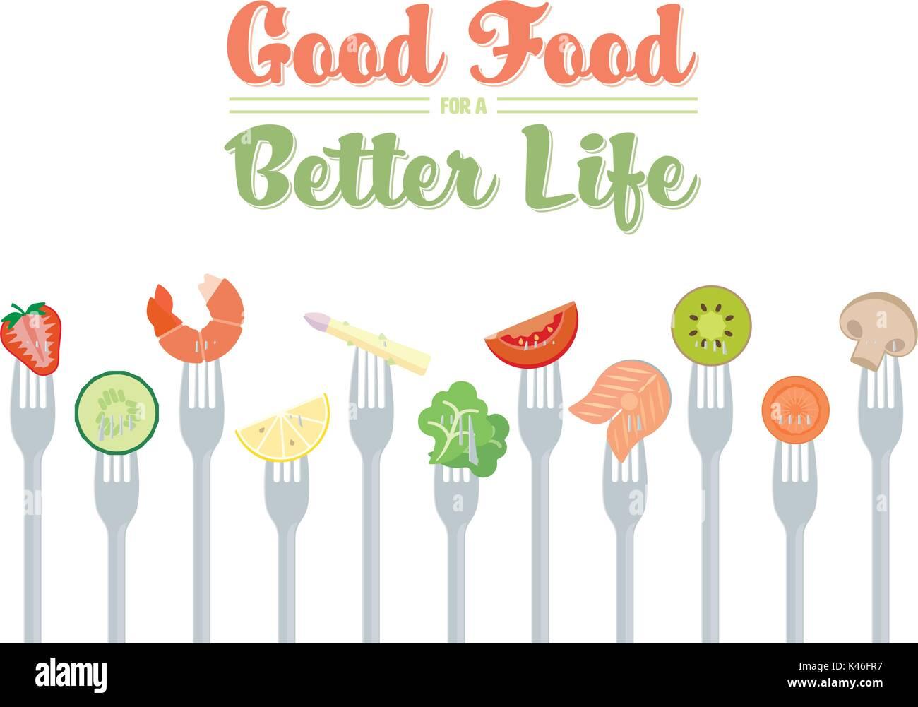 Diet Food Stock Vector Images - Alamy