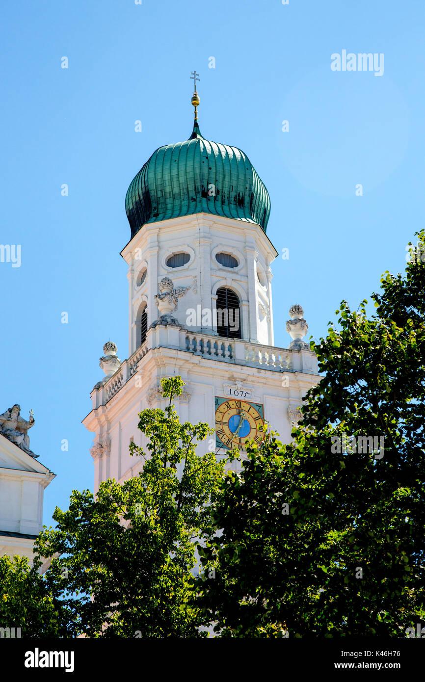 St Stephens Cathedral (Kathedrale zum Heiligen Stephanus) Passau, Bavaria, Germany. - Stock Image