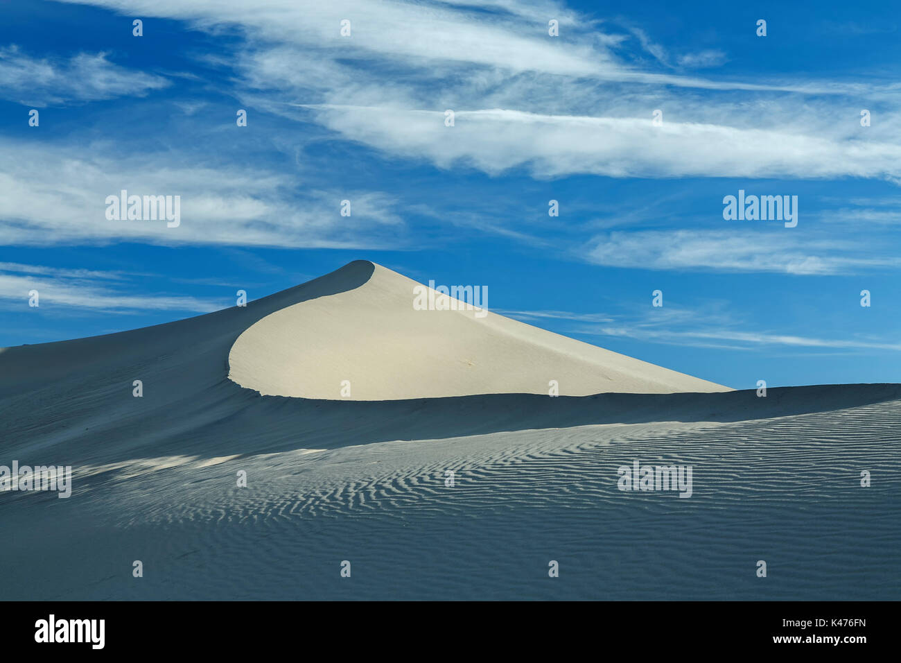 Mesquite Flat Sand Dunes, Death Valley National Park, California USA - Stock Image