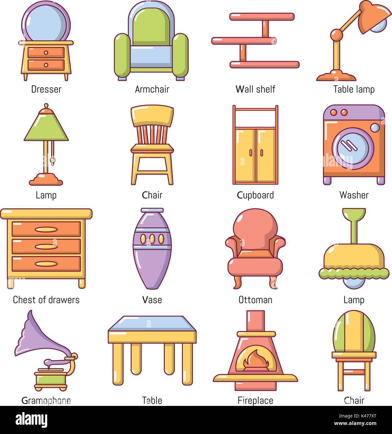 Cartoon Armchair Stock Vector Images Alamy