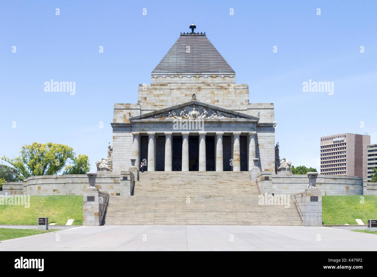 The SHrine of Remembrance, Melbourne, Victoria, Australia - Stock Image