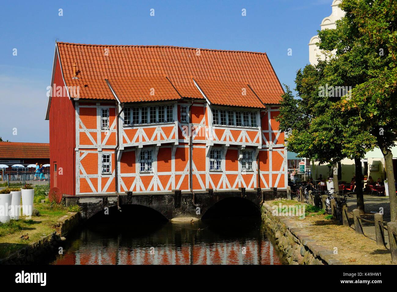 Waterdoor In Wismar - Stock Image