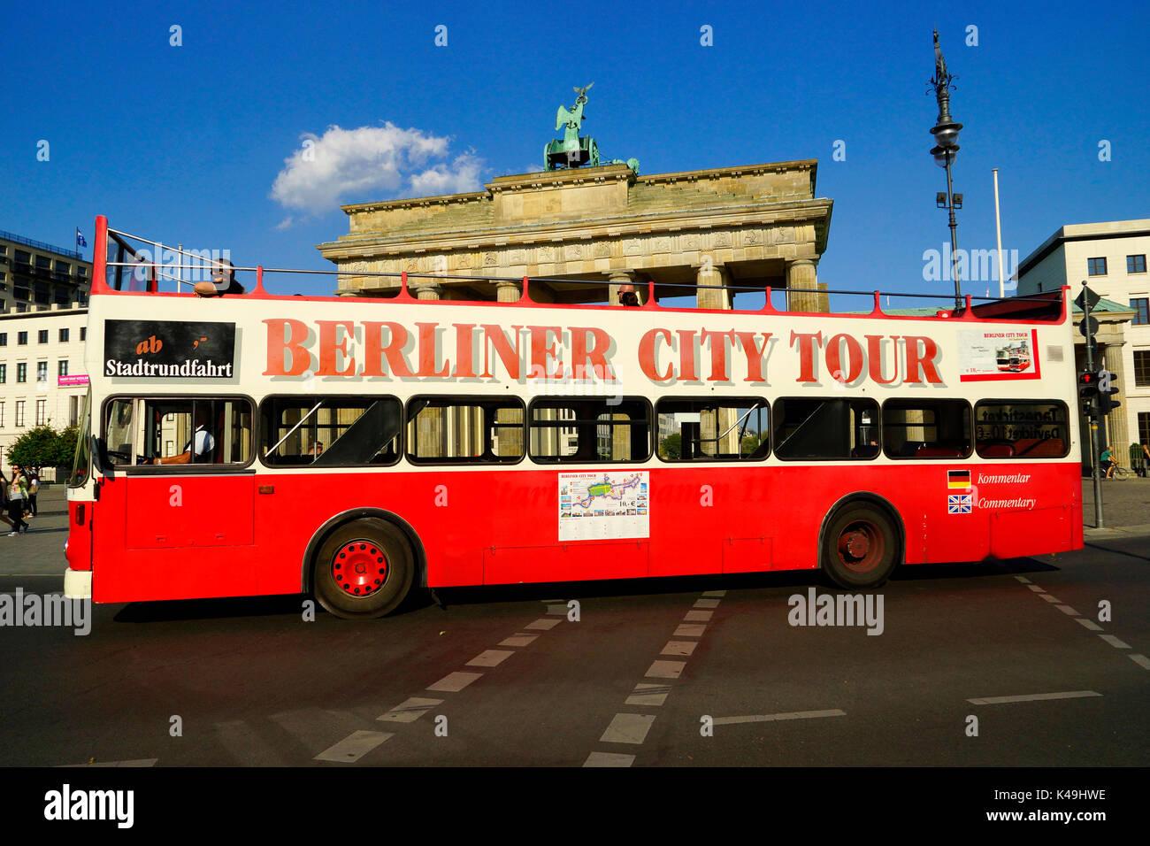 Citytour In Berlin - Stock Image