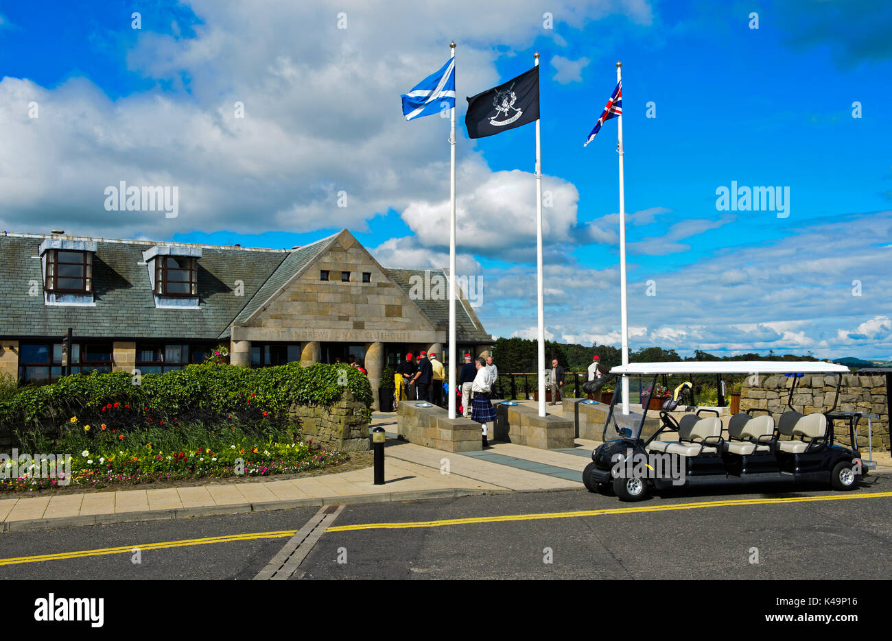 St Andrews Links Club House, Golf Course St Andrews Links, St Andrews, Fife, Scotland, Great Britain - Stock Image
