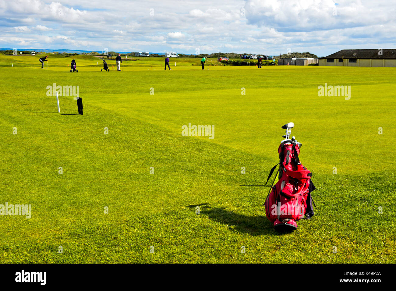 Teeing Ground Of Golf Course, Golf Course St Andrews Links, St Andrews, Fife, Scotland, Great Britain - Stock Image