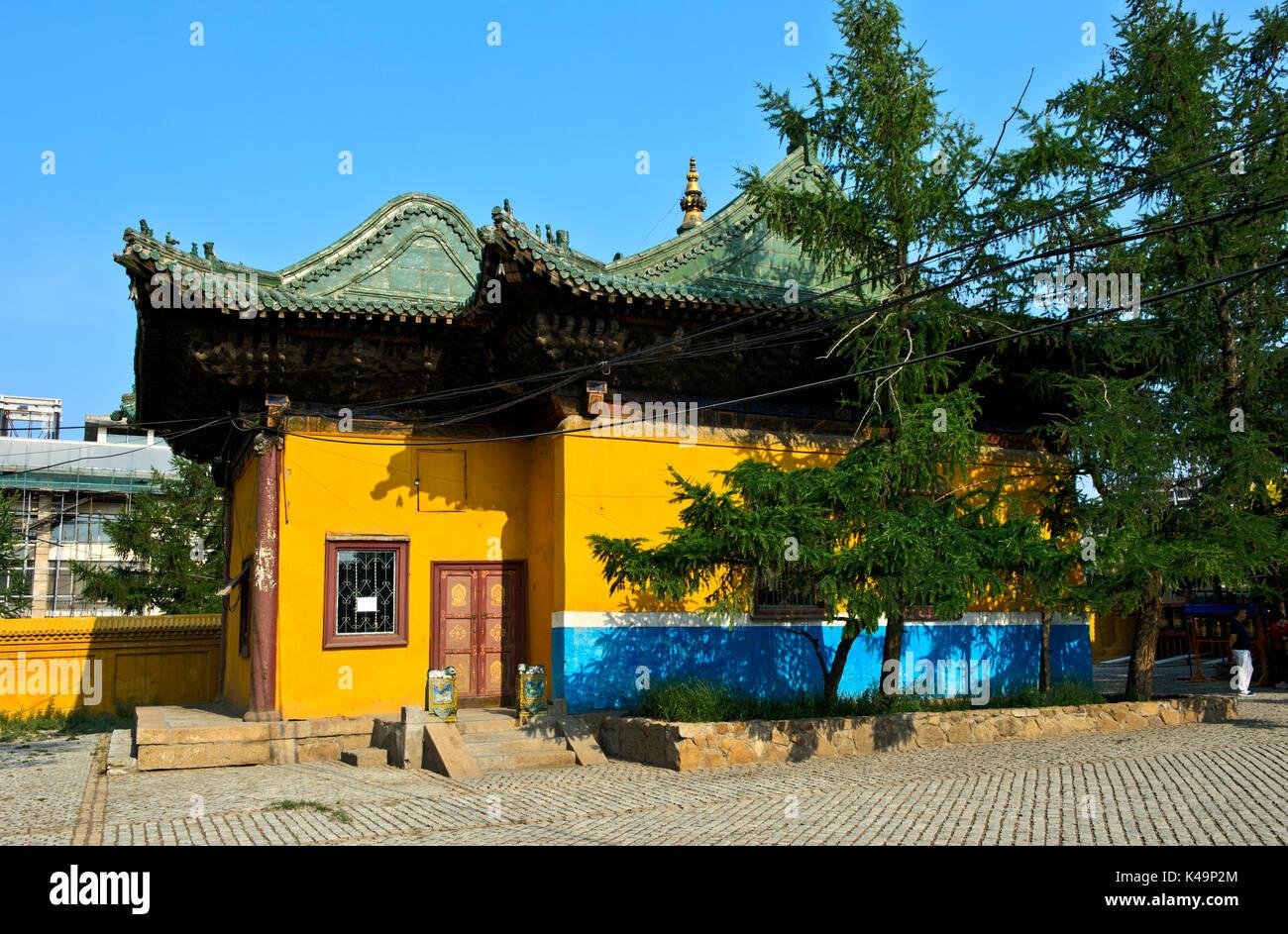 Library In The Gandan Complex, Gandantegchinlen Monastery, Ulaanbaatar, Mongolia - Stock Image