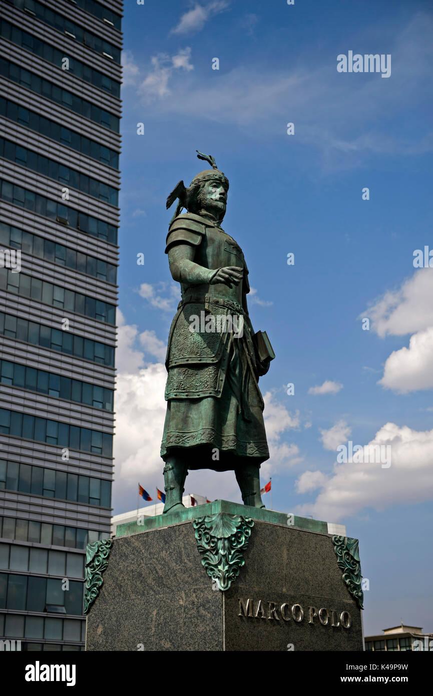 Monument To Marco Polo, Ulaanbaatar, Mongolia Stock Photo: 157567029 ...