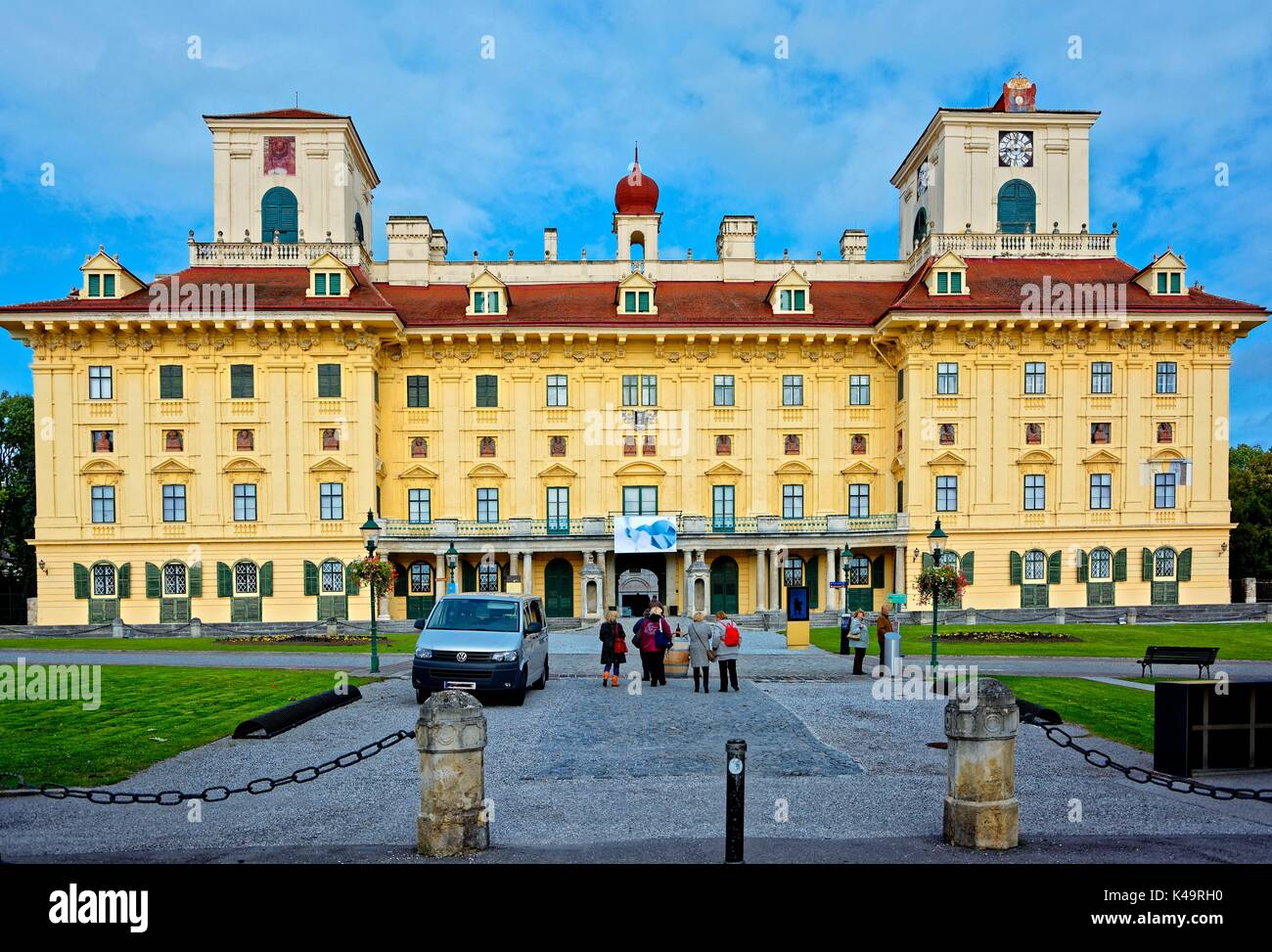 The Esterhazy Palace Is Now Considered One Of The Landmarks Of Eisenstadt. - Stock Image