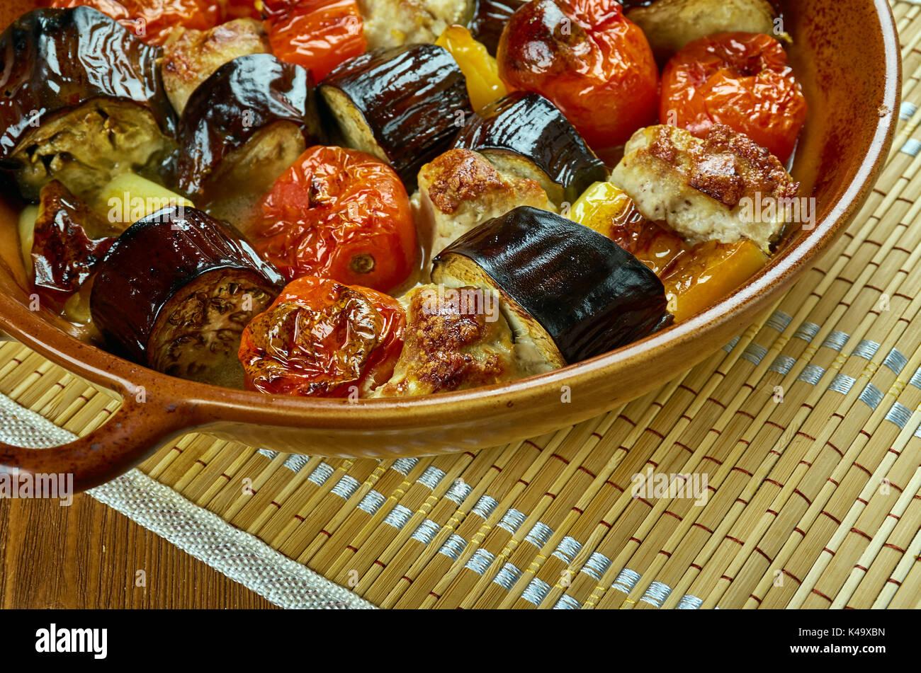 tava-kebab - Kebab in the frying pan, Azerbaijan cuisine