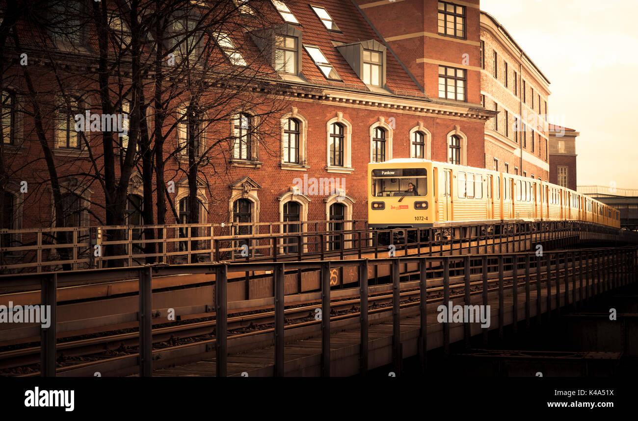 Train To Pankow Stock Photo