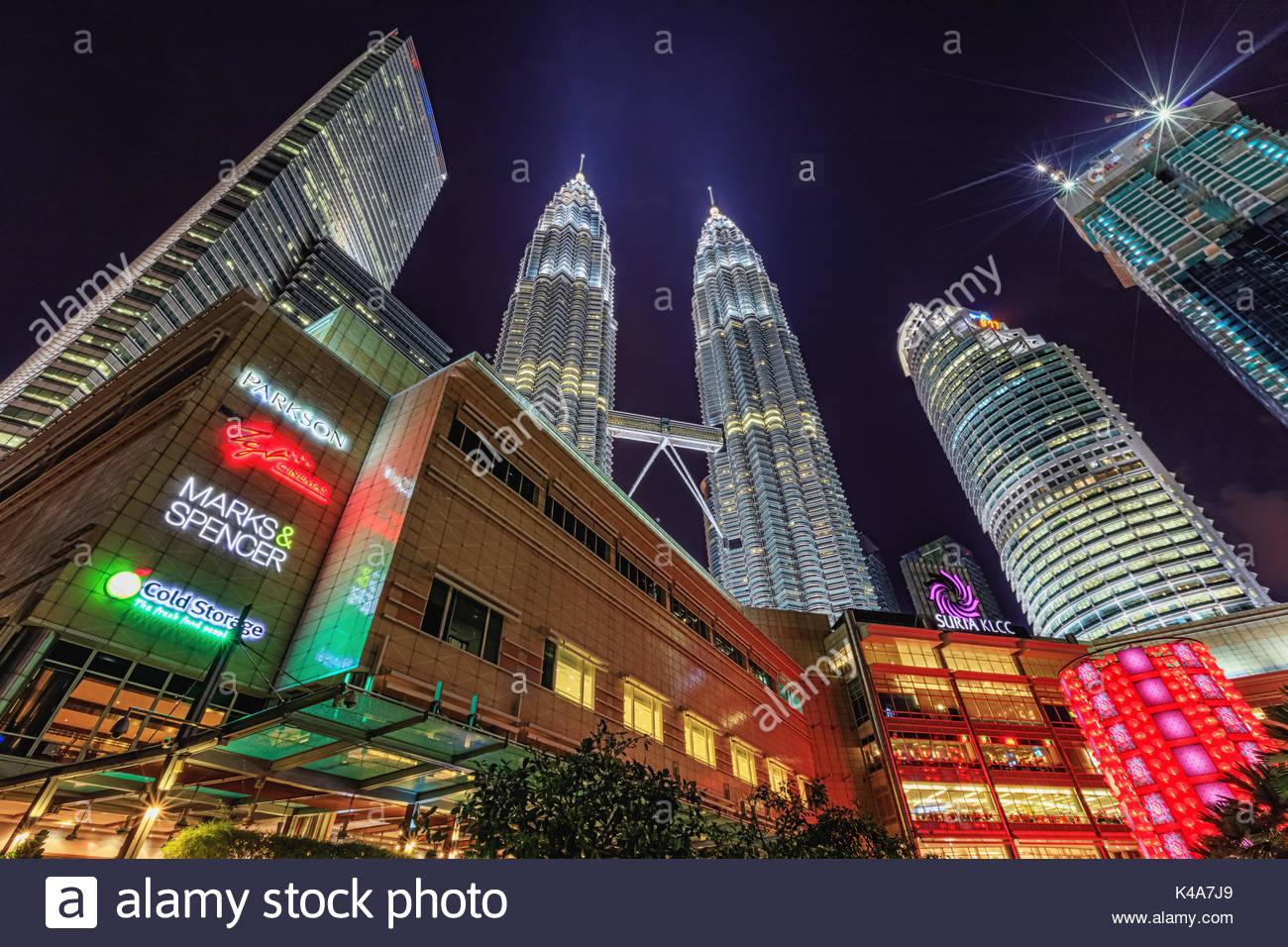 Kuala Lumpur city center - Stock Image