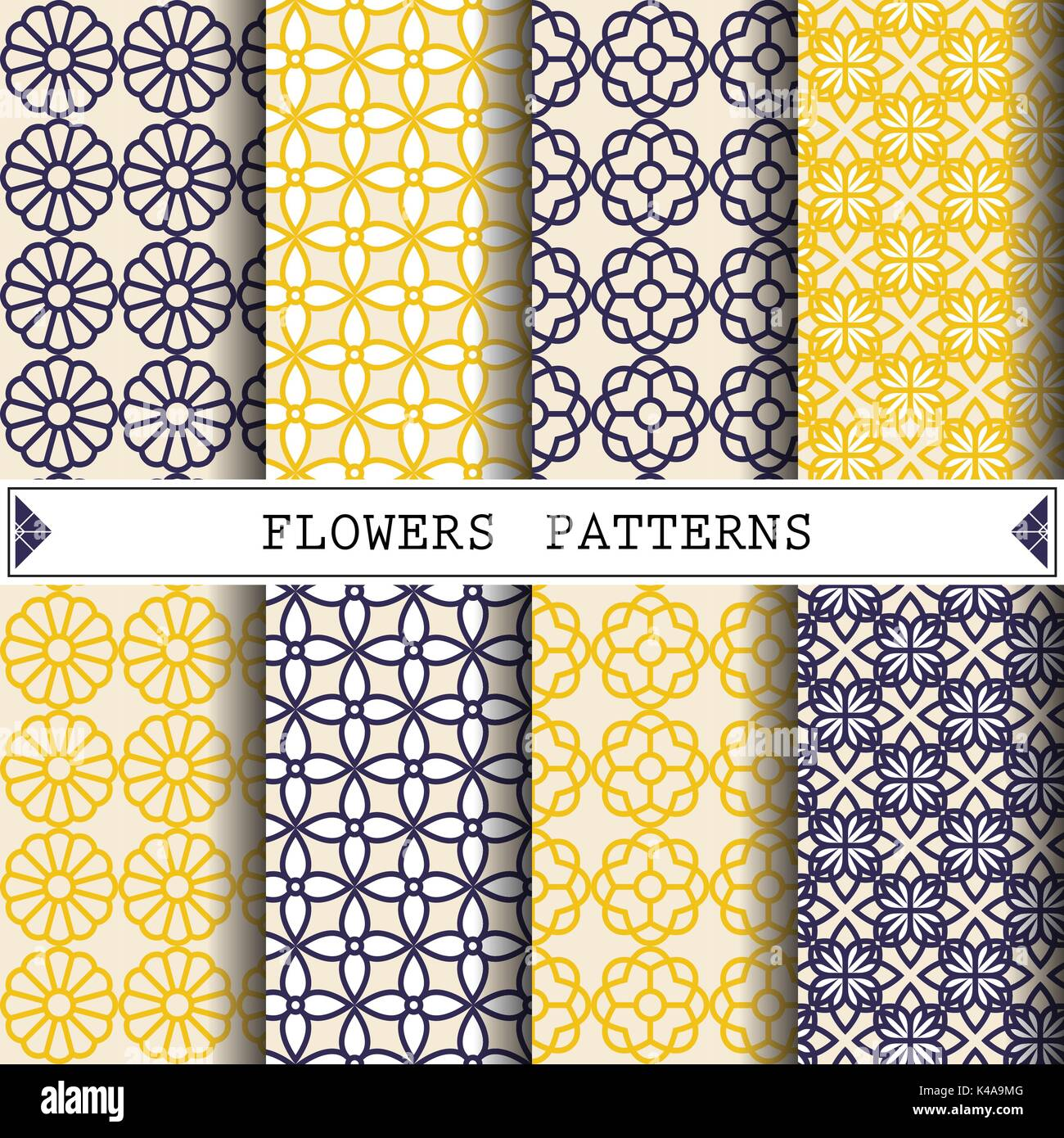 flower vector pattern for decorating web page background and surface textures - Stock Vector