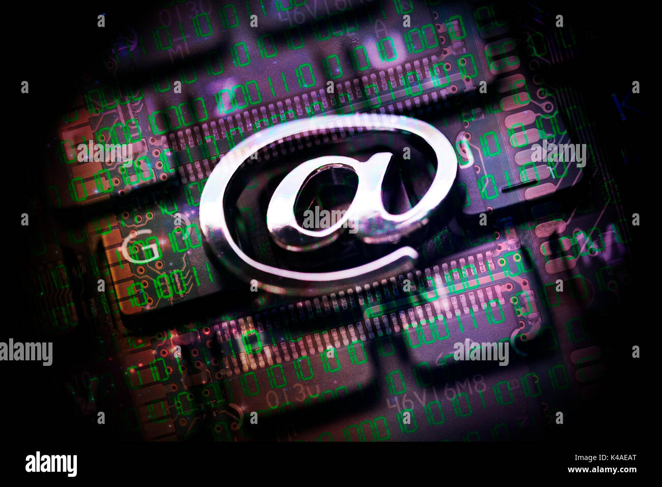 At Sign On Computer Keyboard - Stock Image