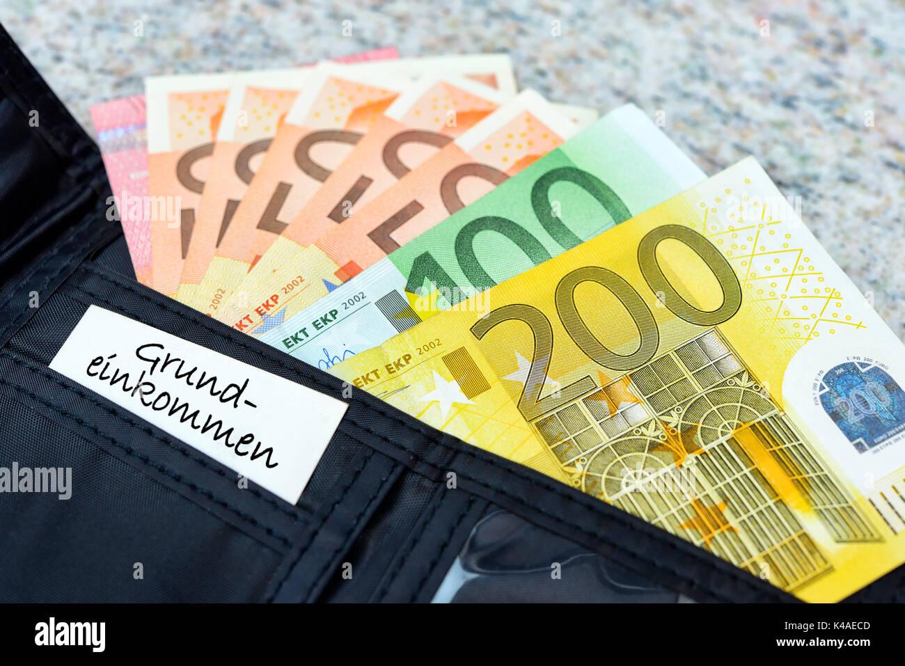 Basic Income - Stock Image