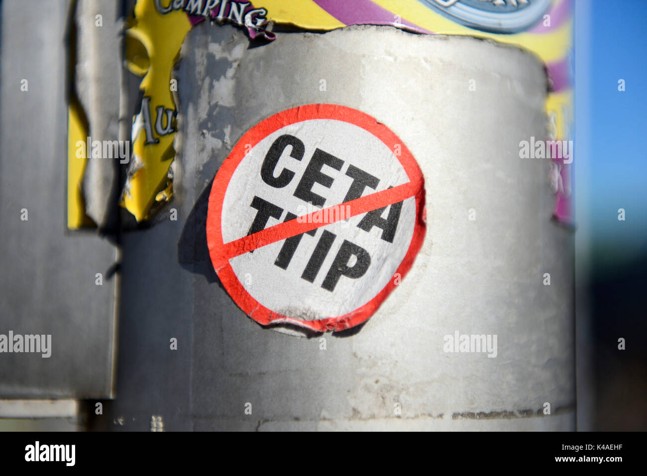 Protest Sticker Against Ceta And Ttip Free Trade Agreements