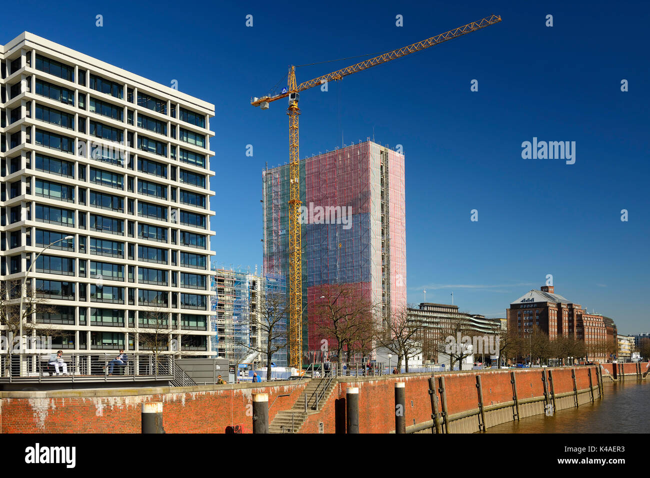 Reconstruction Of The Former Spiegel Publishing House In Hamburg, Germany - Stock Image