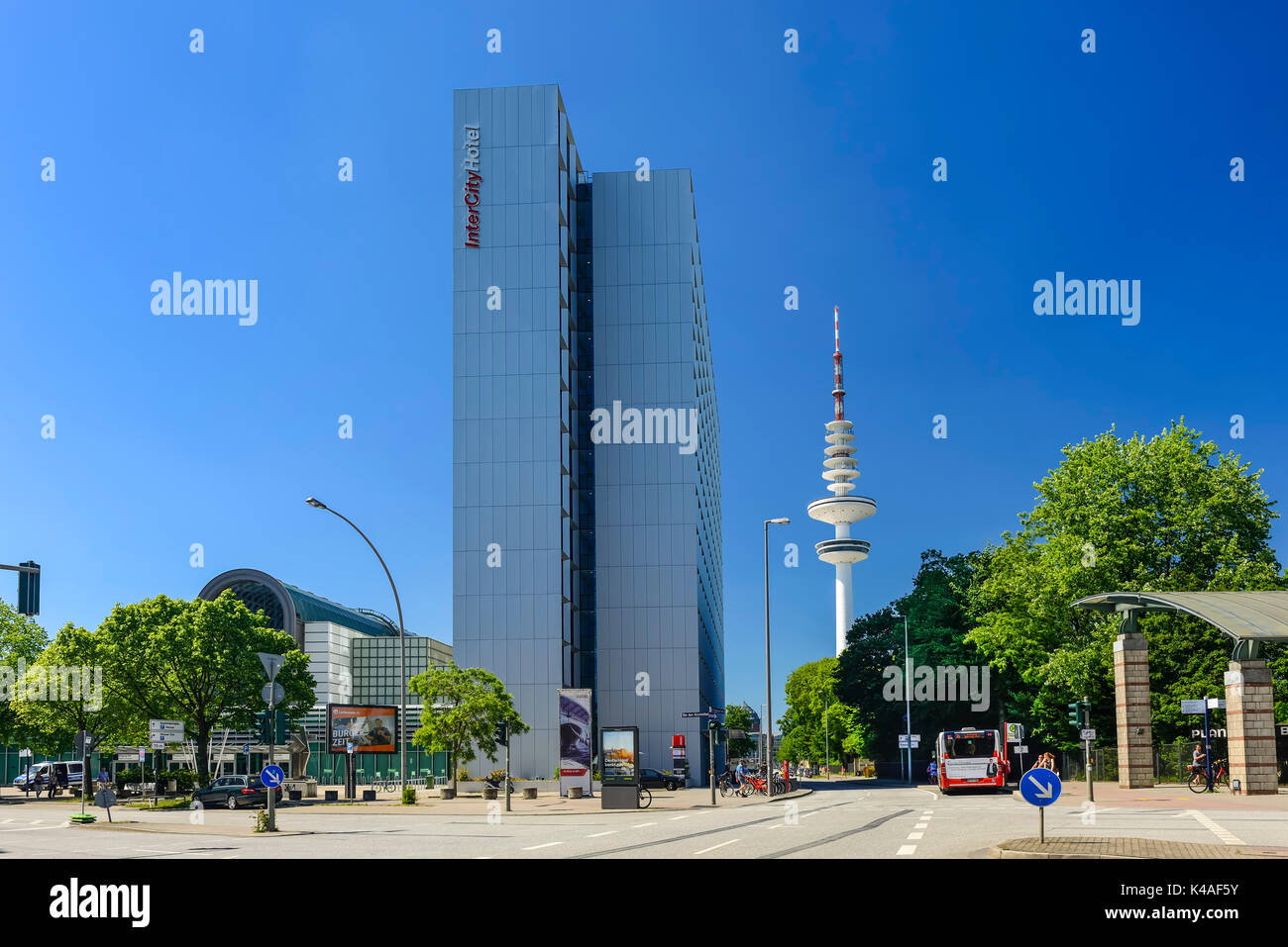 Fair Entrance East And Intercity Hotel In Hamburg, Germany - Stock Image