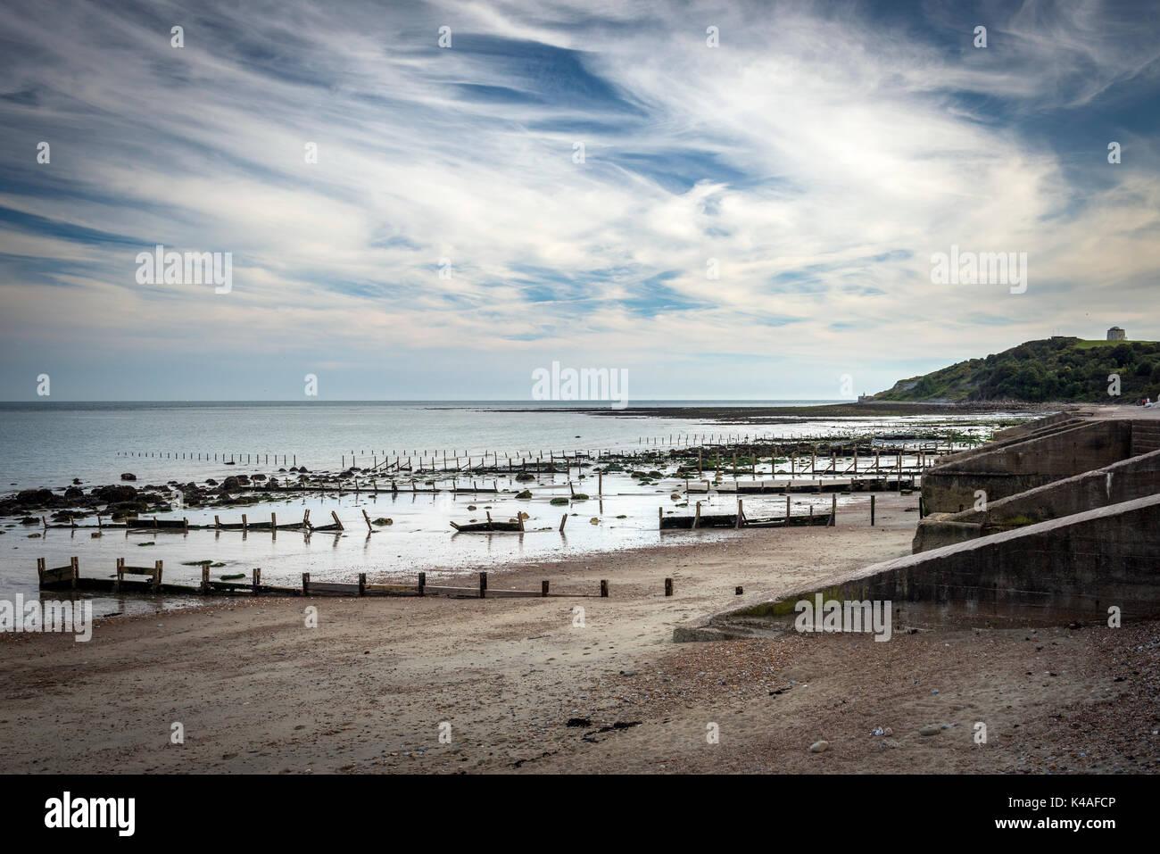 Warren Bay near Folkestone, Kent, UK - Stock Image