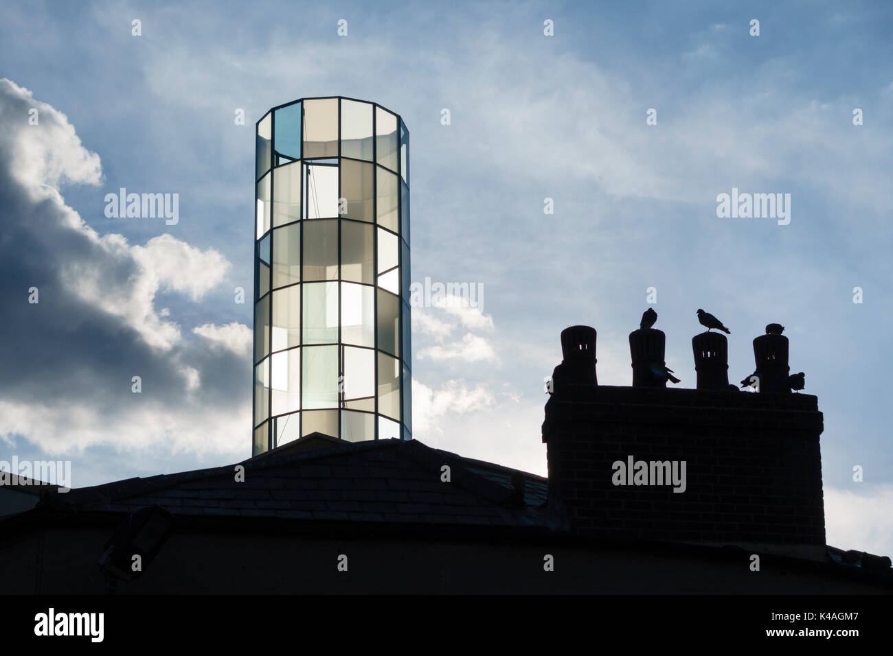 Oxford, UK. The glass 'lantern' above the County Library in the new Westgate Centre has been designed by Swiss artist Daniela Schönbächler - Stock Image
