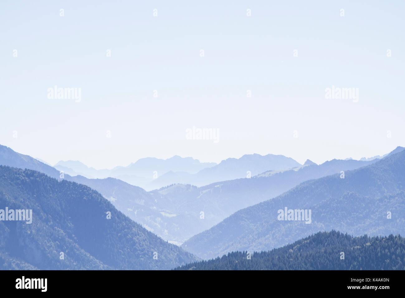 Kaisergebirge Von Der Gindelalm Aus Gesehen - Stock Image