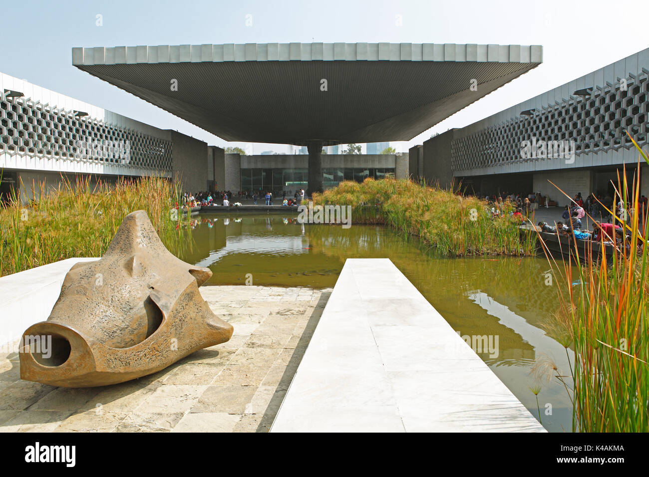 Anthropological museum, Mexico City, federal state of Mexico, Mexico - Stock Image