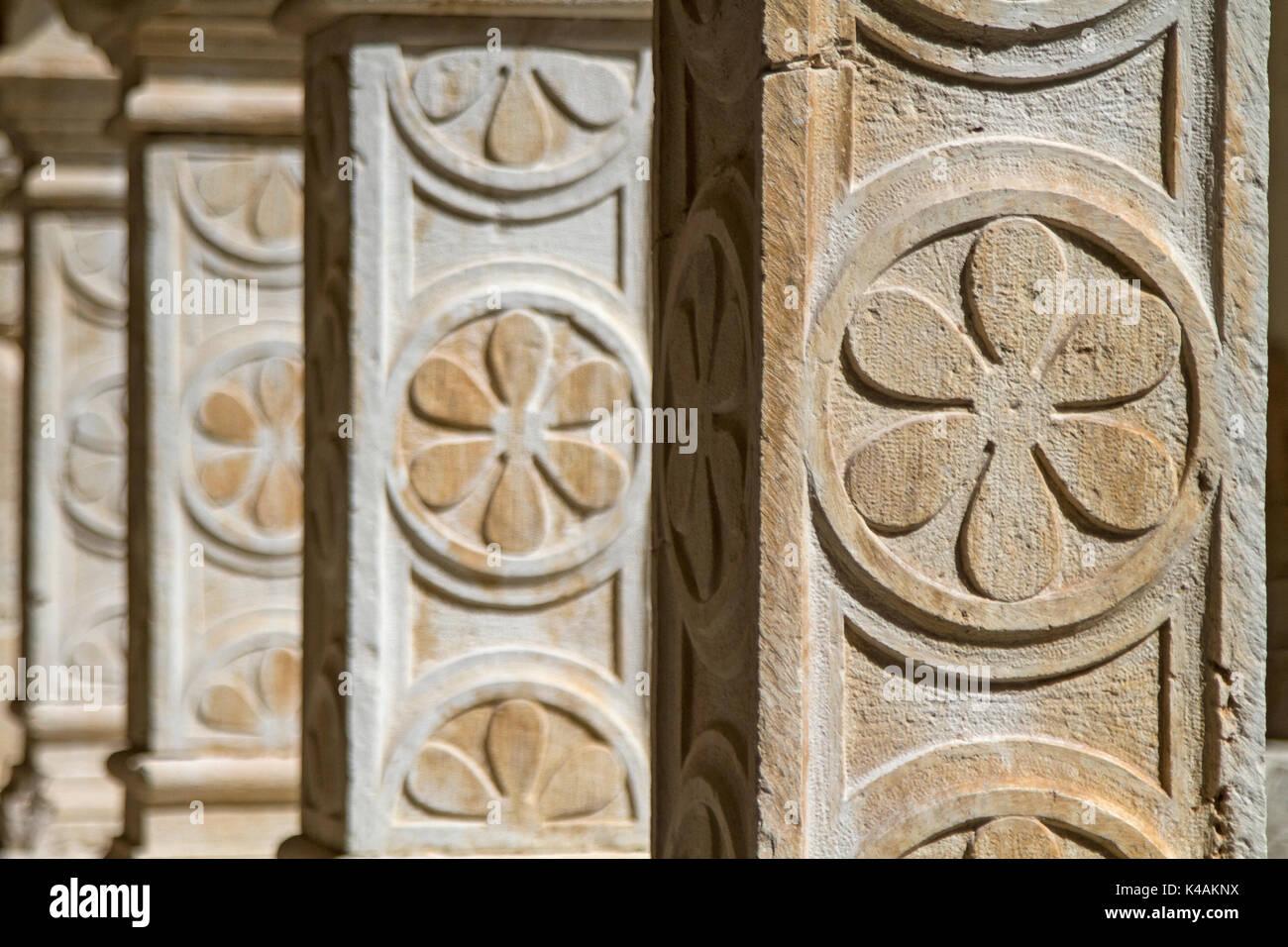 Detailaufnahmr Eines Alten Mittelalterlichen Gebäudes - Stock Image