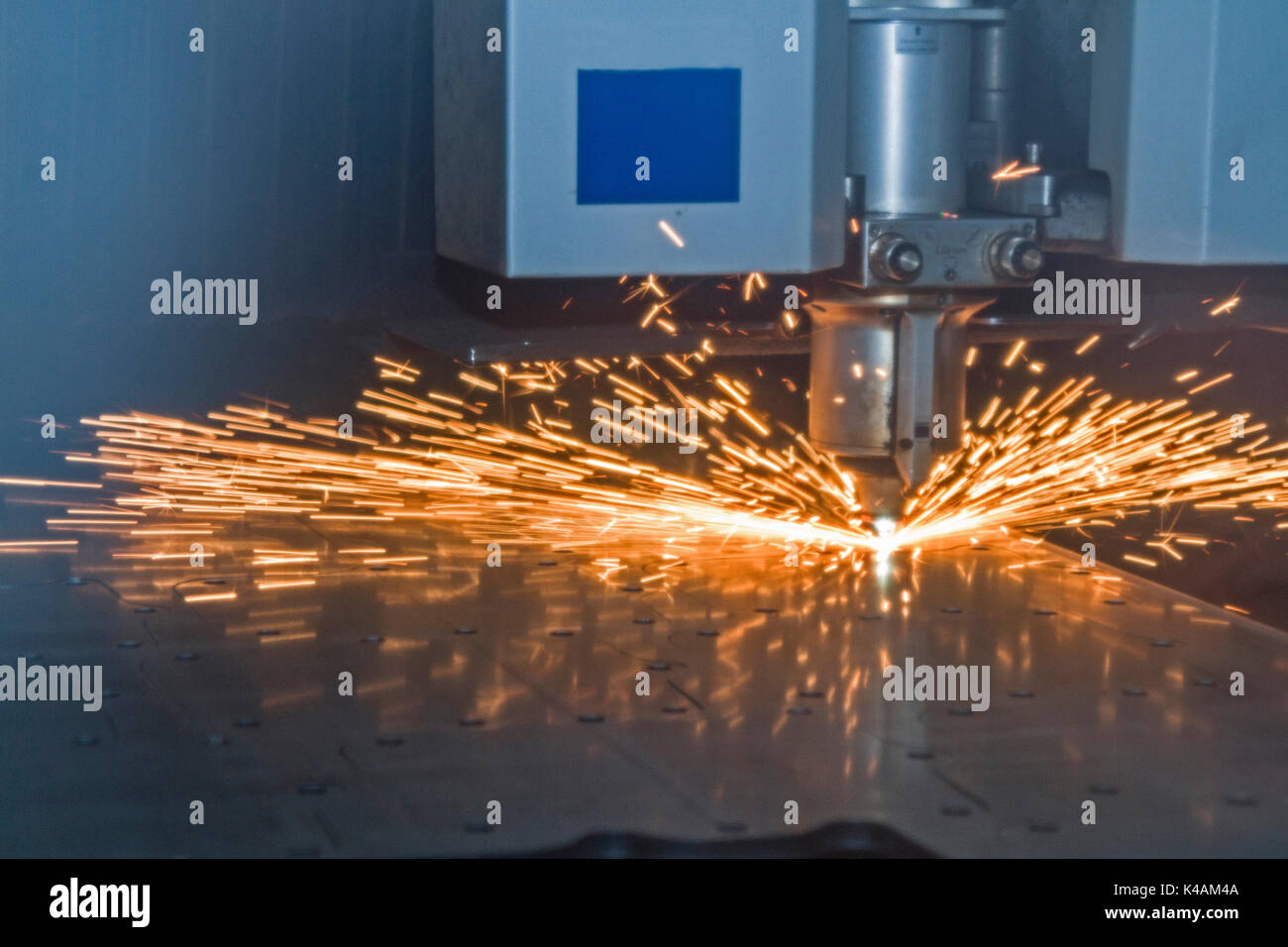 Latest Technology In Metal Processing Is Now In Demand - Stock Image