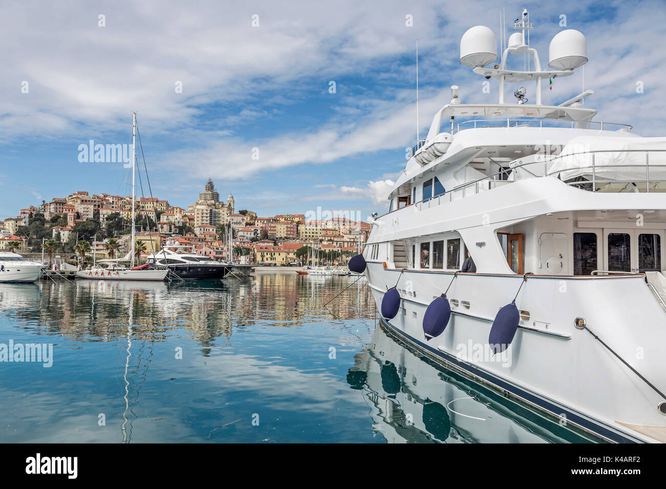 The Provincial Capital Of Imperia Consists Of The Eastern Oneglia And Porto Maurizio District - Stock Image