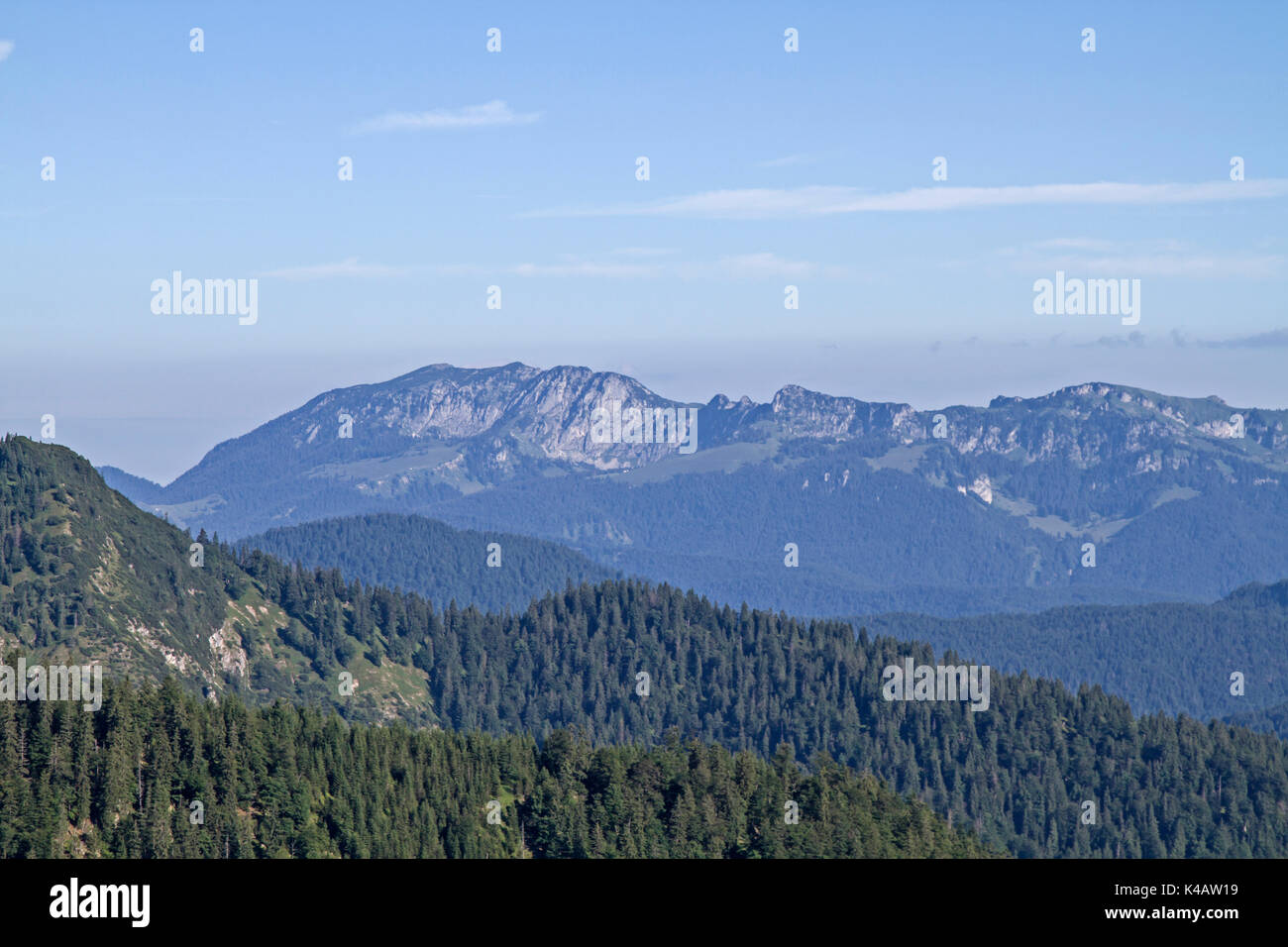 The Mighty Massif Of The Benedictine Wall Looks Soft On Its South Side - Stock Image