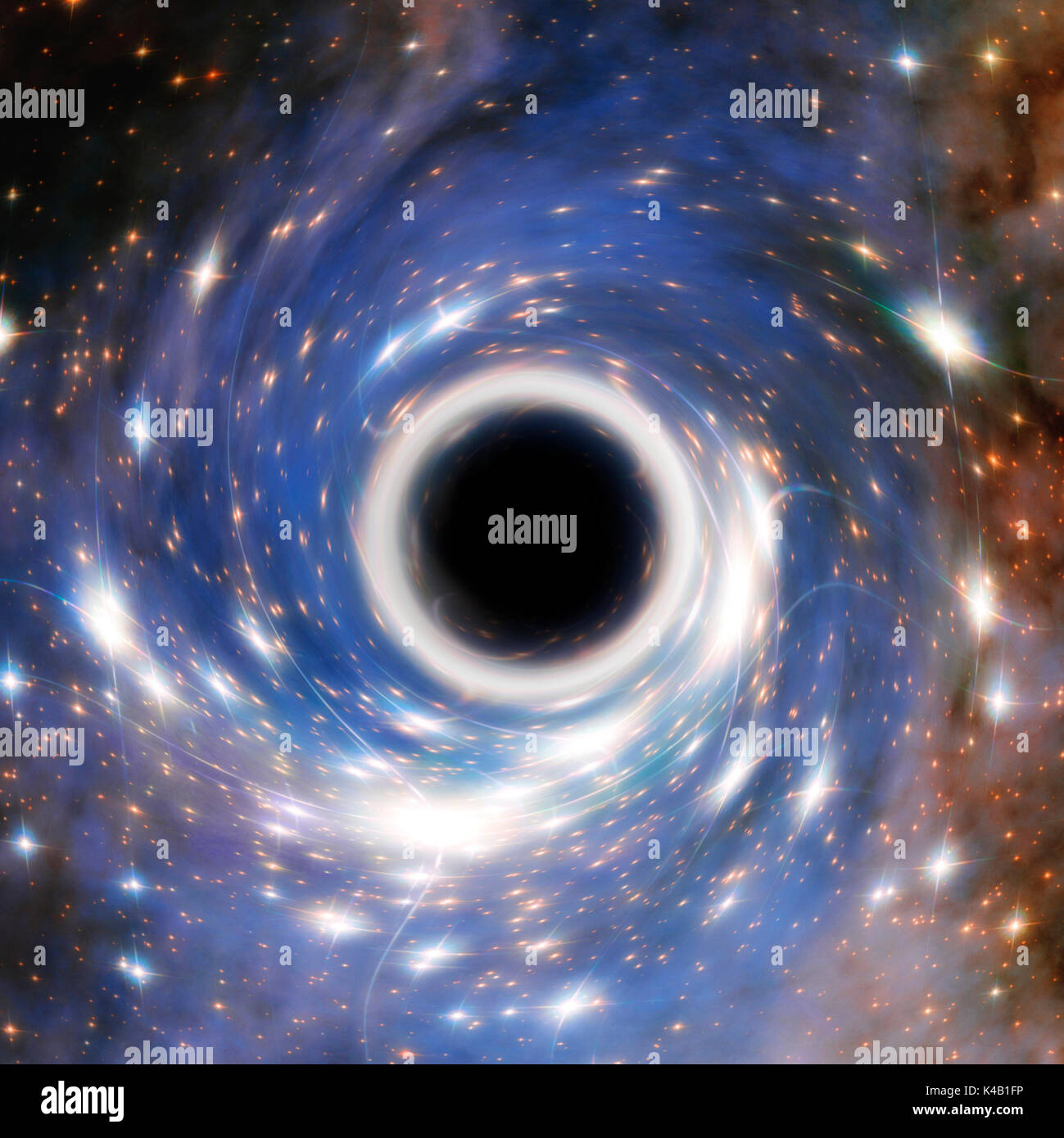 Artistic Representation Of A Cosmic Black Hole  Elements Furnished