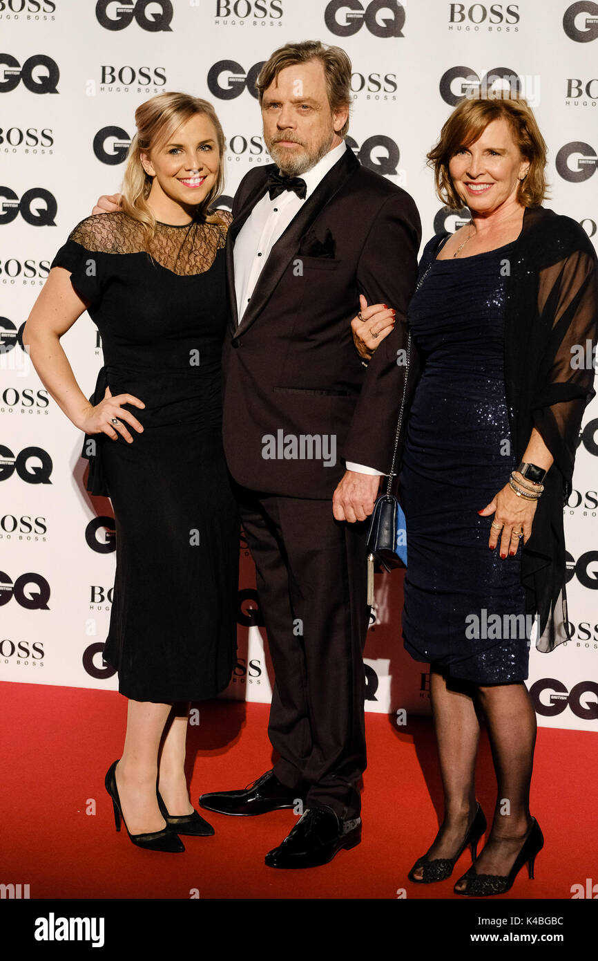 London, UK. 05th Sep, 2017. Mark Hamill , Marilou York at GQ Men of The Year Awards 2017  on Tuesday 5 September 2017 held at Tate Modern, London. Pictured: Mark Hamill , Marilou York. Credit: Julie Edwards/Alamy Live News - Stock Image