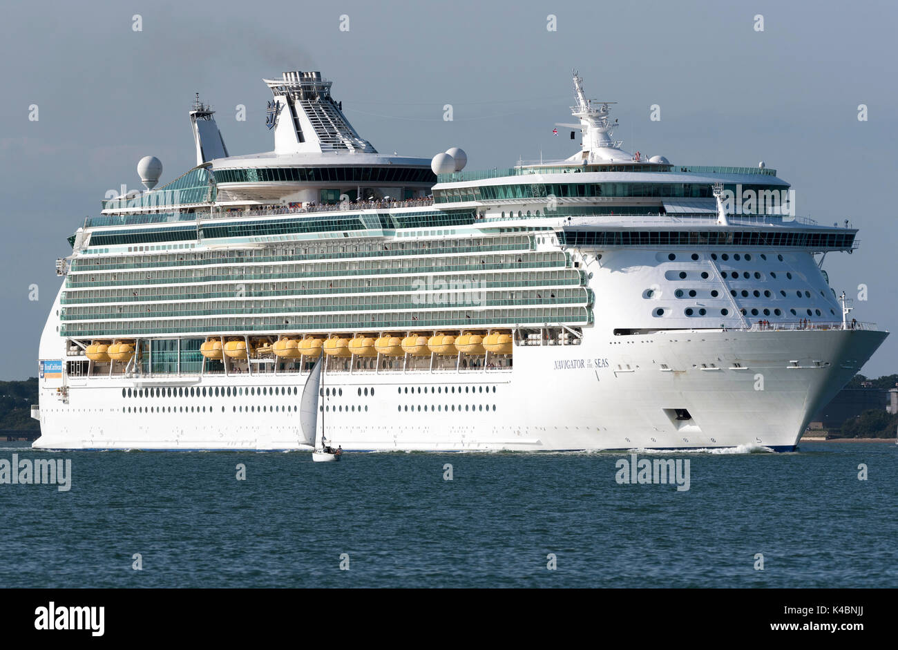 Cruise ship Navigator of the Seas underway on Southampton Water England UK. August 2017 - Stock Image