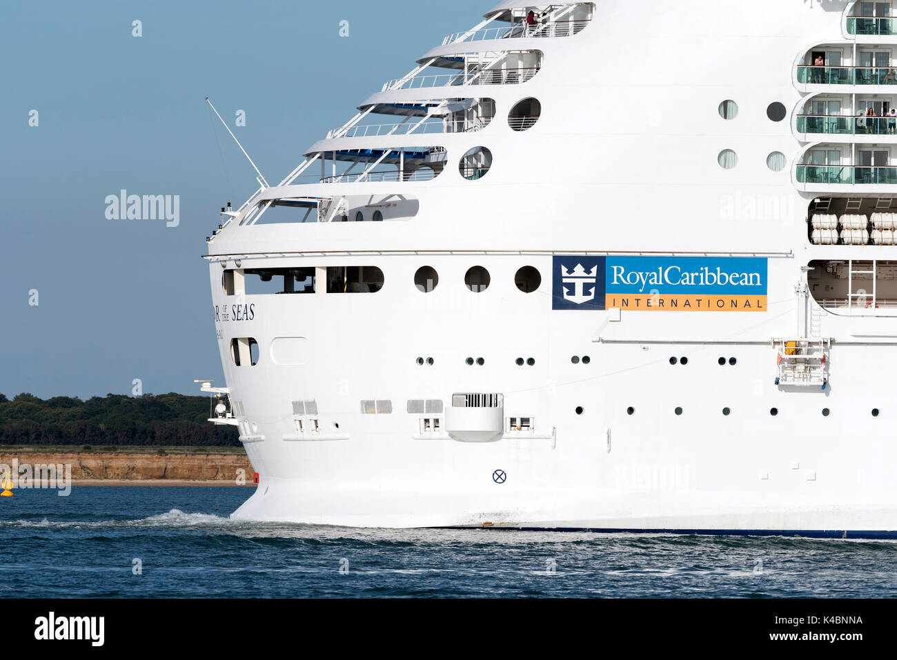 Cruise ship Navigator of the Seas underway on Southampton Water England UK. August 2017 Stock Photo