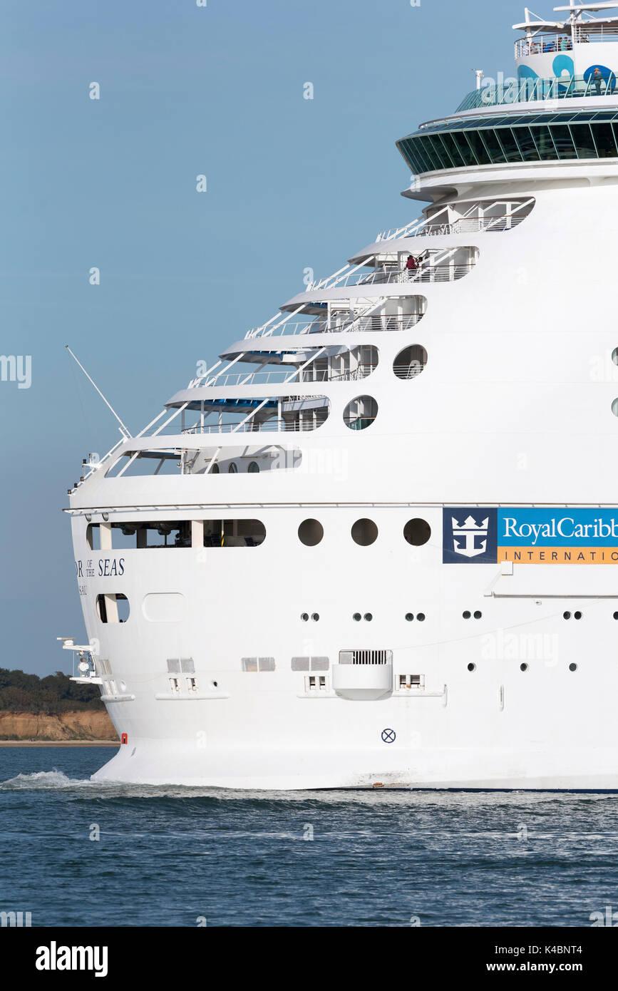 Cruise ship Navigator of the Seas underway on Southampton Water England UK. August 2017 Stock Photo