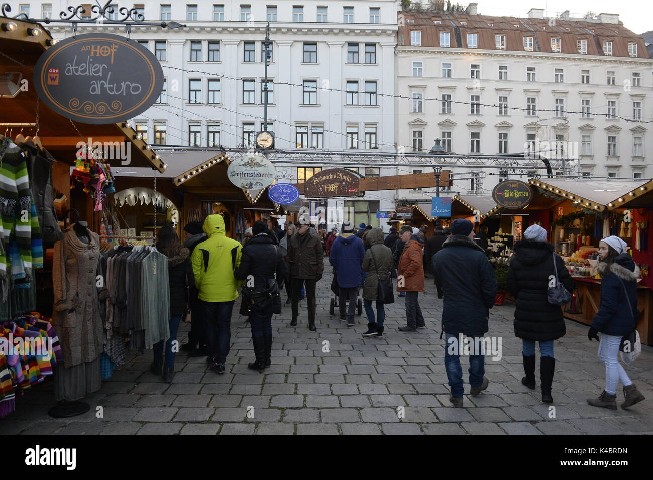 Christmas Market At The Hof In Vienna - Stock Image