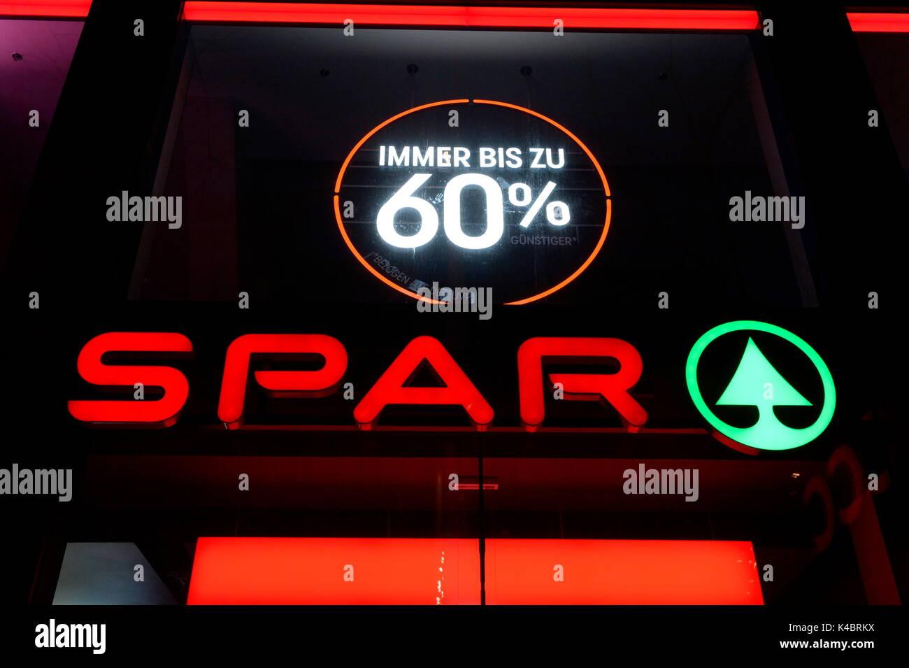 Spar Trading Chain In Vienna Stock Photo