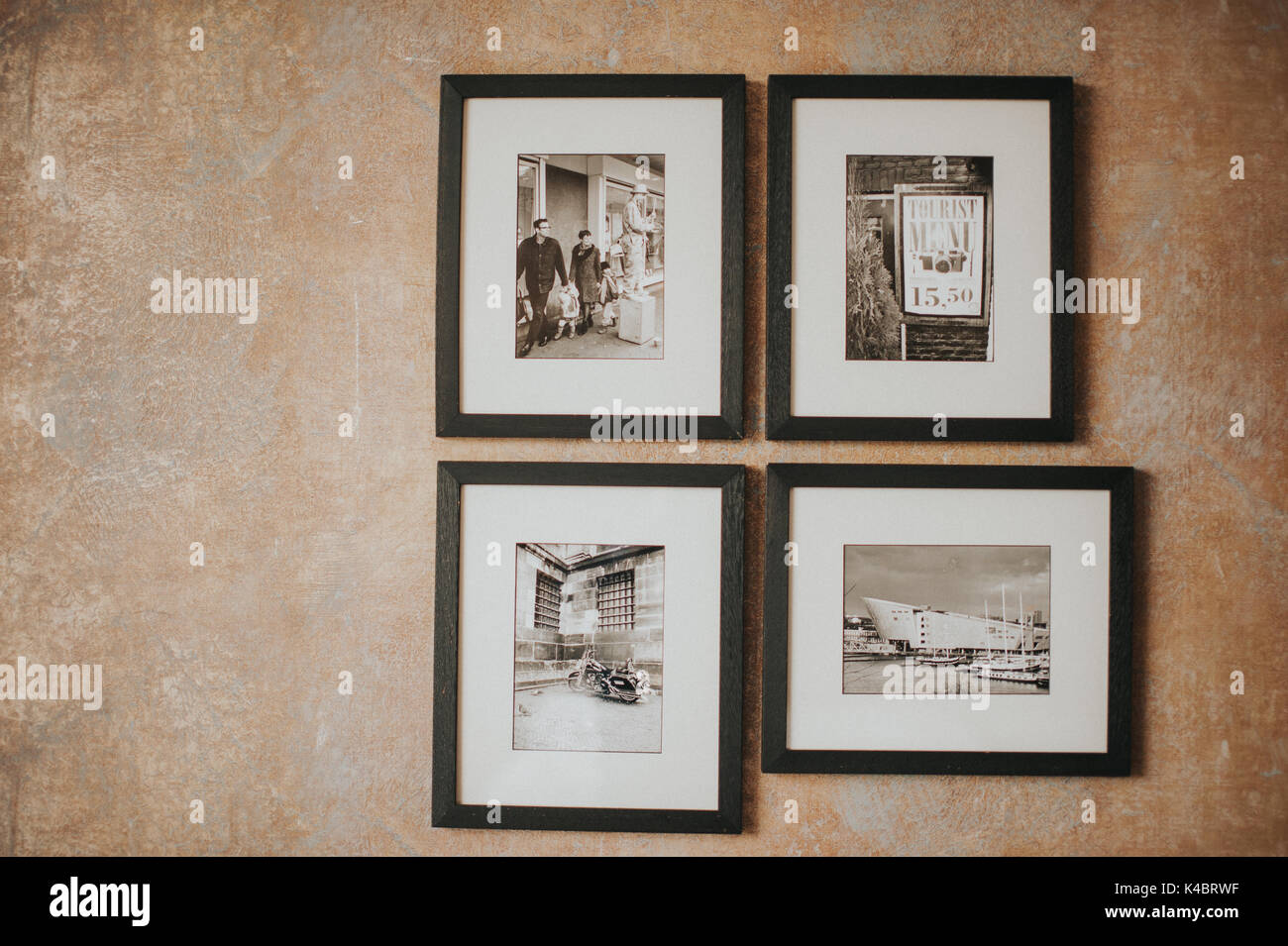 a picture on the wall. simple yet elegant. - Stock Image