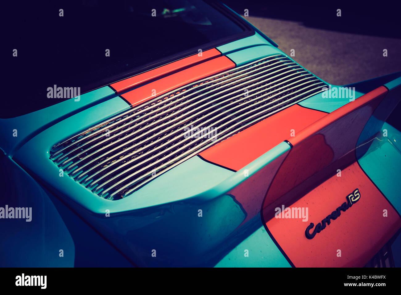 Porsche Carrera 2,7 RS Gulf - Classic Car Detail - Stock Image