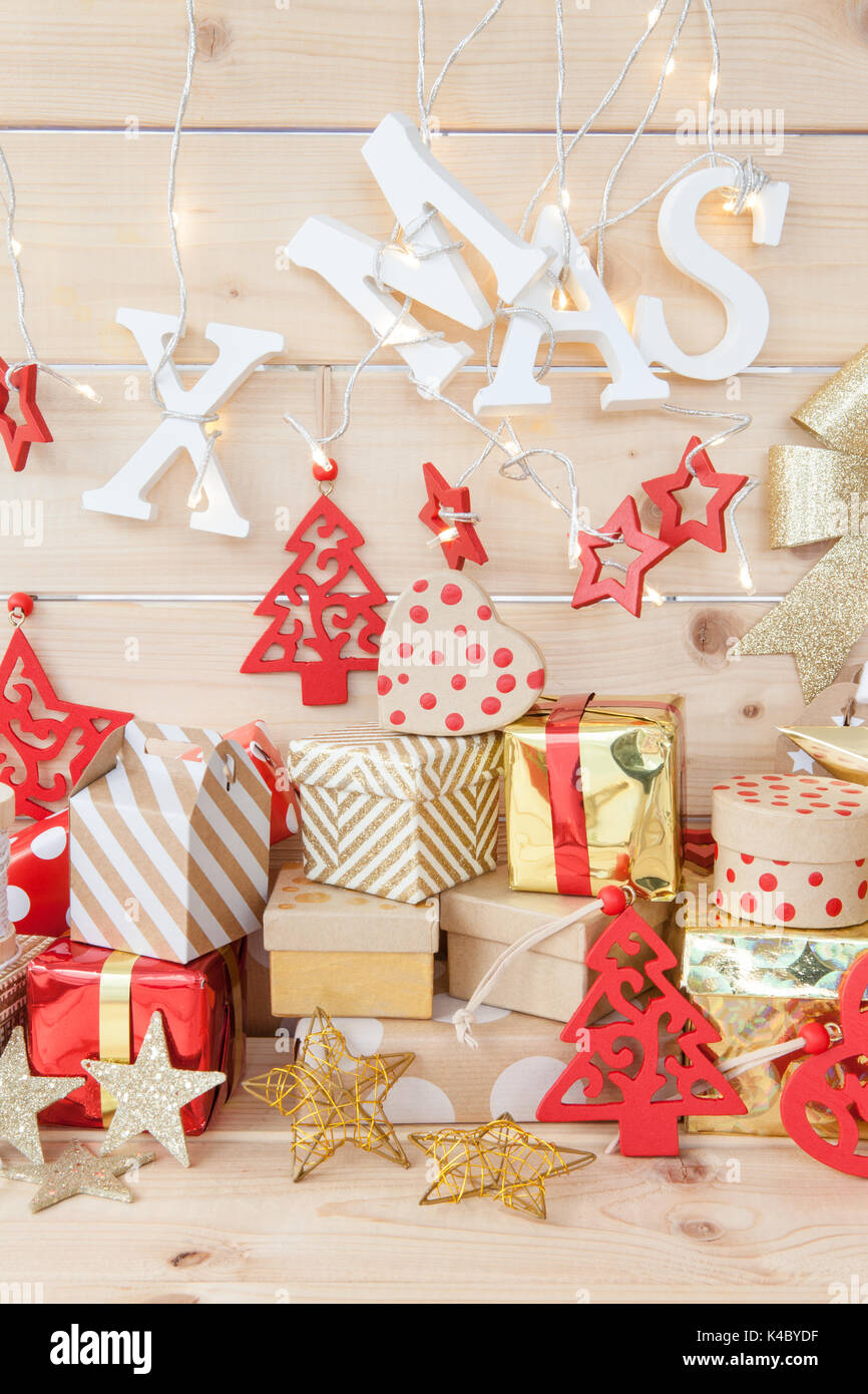 Christmas Presents - Stock Image