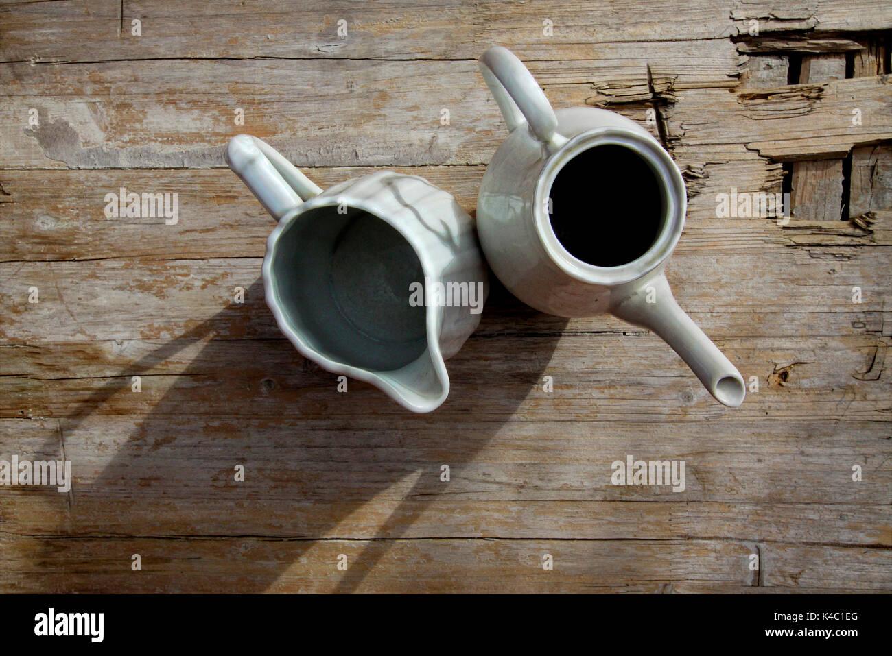 White Teapots - Stock Image